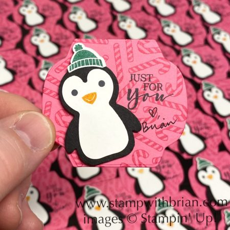 Penguin Place Bundle, Candycanes, Stampin Up!, Brian King, Christms tag