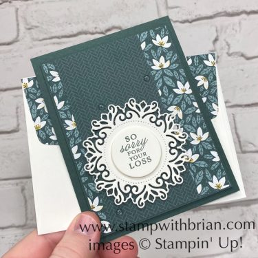 Prized Peony, Encircled in Beauty Dies, Stampin Up!, Brian King, sympathy card