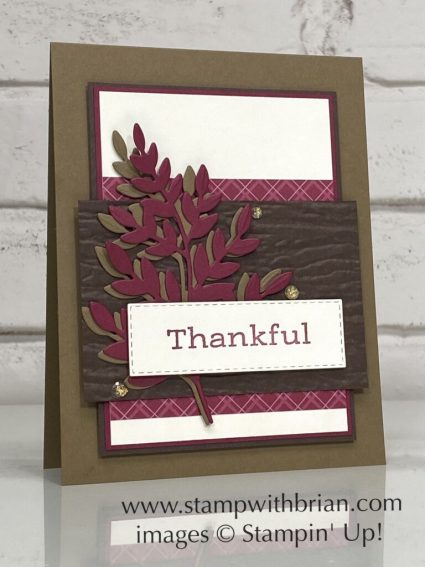 Time of Giving, Forever Flourishing, Stampin Up!, Brian King, Thanksgiving card