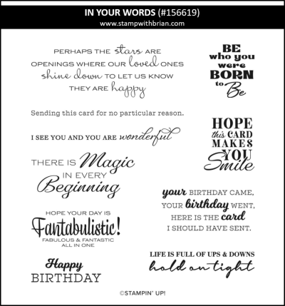 In Your Words, Stampin Up! 156619