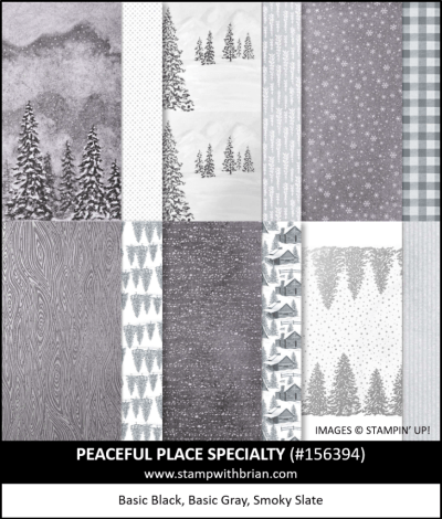 Peaceful Place Specialty Designer Series Paper, Stampin Up! 156394