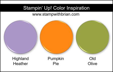 Stampin Up! Color Inspiration - Highland Heather, Pumpkin Pie, Old Olive
