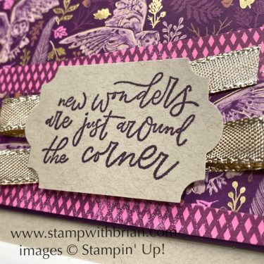 Beauty of Tomorrow, Blackberry Beauty Specialty Designer Series Paper, Stampin Up!, Brian King