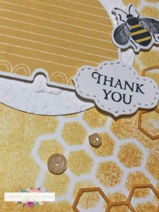 Inspire.Create. Challenge #062 – Honey Bee Thank You Card