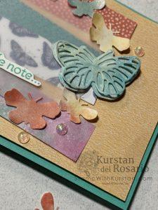 #GDP278 Butterfly Bouquet Slimline Card