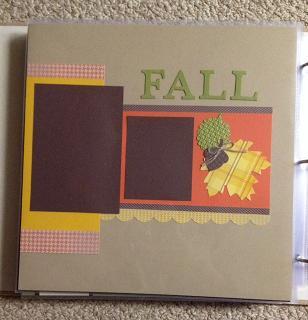 Fall Scrapbook Page 2