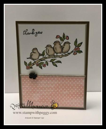 Free As a Bird Stamp Set, Bird Ballad Designer Paper, Linen Trim, Stamp with Peggy