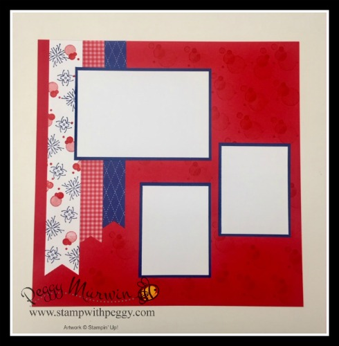 Red, White & Blue, 4th of July, Scrapbook, Stamp with Peggy