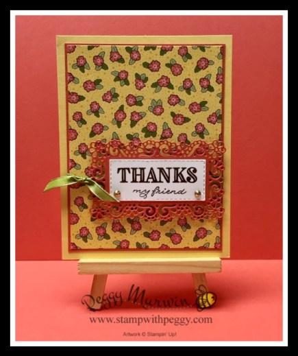 Ornate Garden Suite, Ornate Thanks Stamp Set, Ornate Layers Dies, Ornate Garden Designer Paper, Gilded Gems, Stamp with Peggy