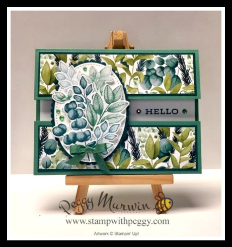 """Forever Fern Stamp Set, Forever Flourishing Dies, Forever Greenery Designer Paper, Just Jade 1/4"""" Ribbon, Flowers for Every Season Gems, Spring, Floral, Stamp with Peggy"""