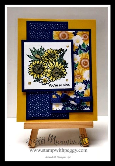 """Jar of Flowers Stamp Set, Bumble Bee, Misty Moonlight, Flowers or Every Season Designer Paper, Misty Moonlight 1/4"""" Ribbon, 2020-2021 Annual Catalog, Stamp with Peggy"""