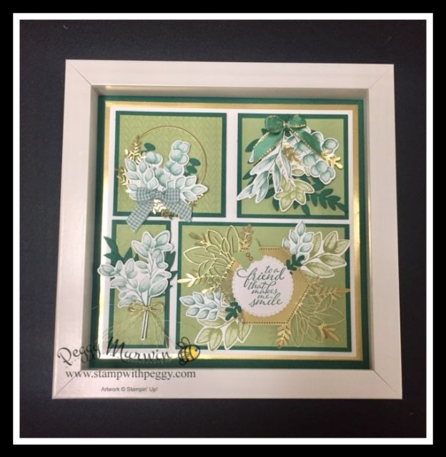 Forever Greenery Suite, Forever Fern Stamp Set, Forever Flourishing Dies, Framed Art, Spring, Stamp with Peggy