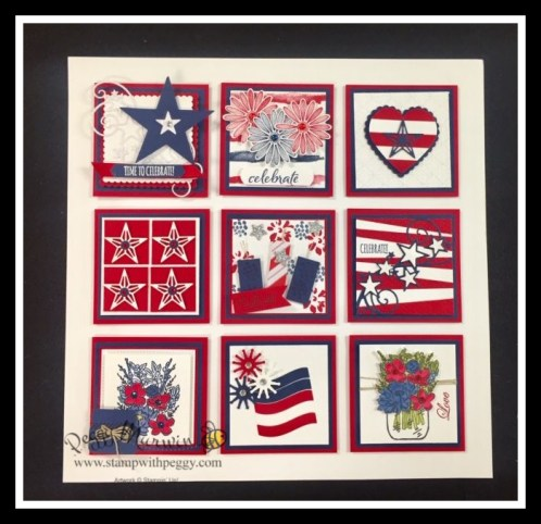 4th of July, Framed Art, Team Swap, Stamp with Peggy