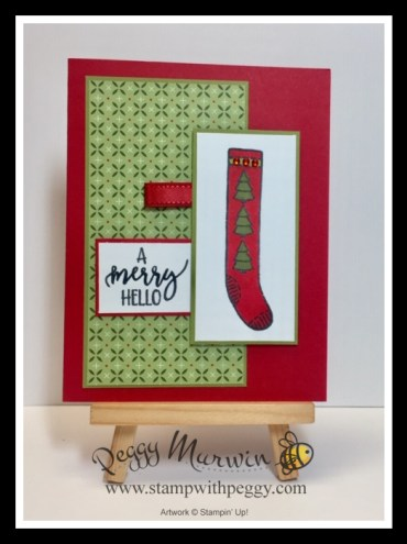 A Merry Hello Stamp Set, Heartwarming Hugs Designer Paper, Christmas, Fall Fest, Stamp with Peggy