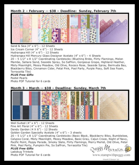 Spring Mini Catalog, Sale-a-Bration, Spring Mini Paper ClassesStamp with Peggy