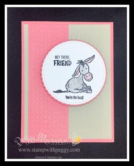 Darling Donkeys, Greenery Embossing Folder, Watercolor Pencils, Blender Pen, Stamp with Peggy