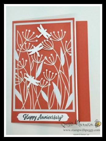 Dandy Laser-Cut Paper, Many Messages, Dragonfly Punch, Cabin Fever Stamp Camp, Stamp with Peggy