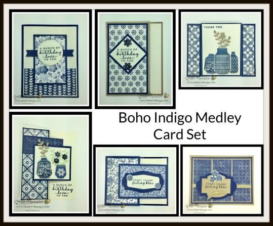 Boho Indigo Medley, Cabin Fever Stamp Camp, Stamp with Peggy
