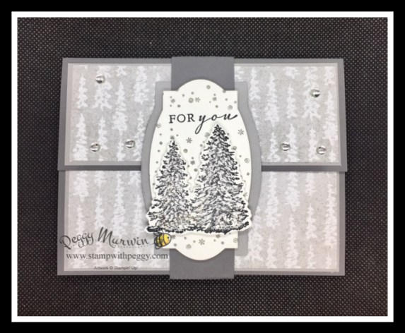 Peaceful Cabin Bundle, Peaceful Place Designer Paper, Pop-Up Card, Easel Card, Christmas, Winter, Stamp with Peggy