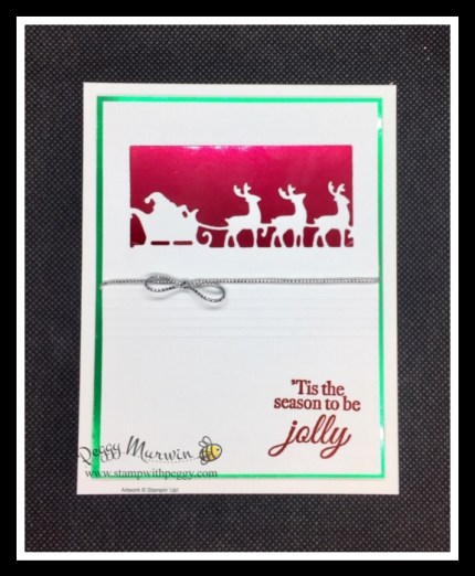 Time of Giving Dies, Holly Jolly Wishes Stamp Set, Simply Elegant Trim, Red & Green Foil, Christmas, Stamp with Peggy