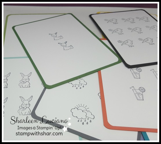 Flashcards Stampin' Up!