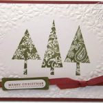 Christmas Cards with oval and circle textured backgrounds