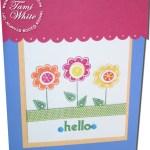 Hello Again – Flower box card