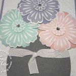 Mixed Bunch flower pot card