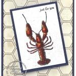 VIDEO TUTORIAL: Lobster Watercoloring Card