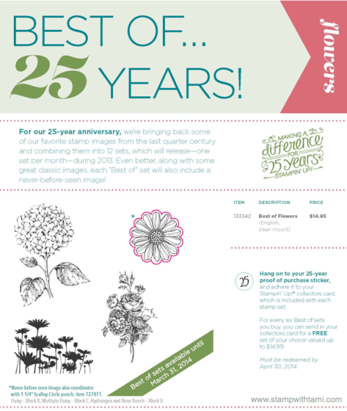 Stampin' Up Best of 25 years March edition