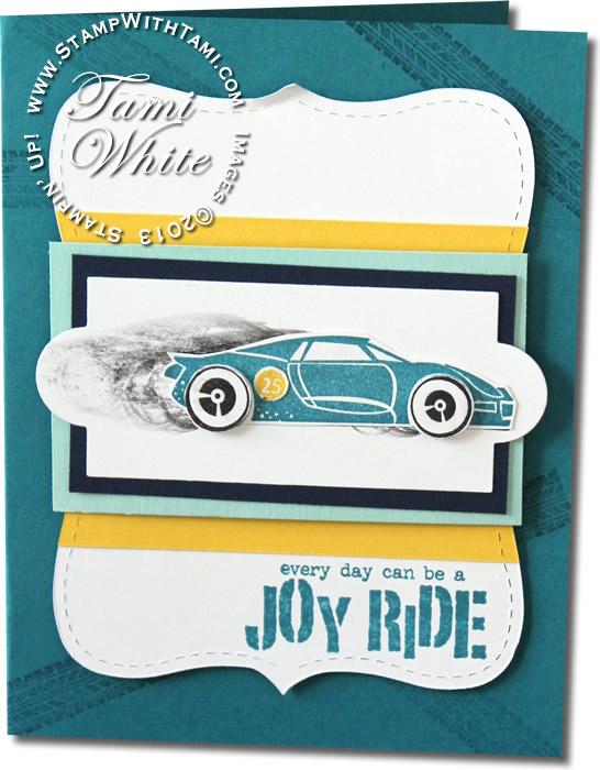 VIDEO Rev It Up Race Car Card Stampin Up Demonstrator