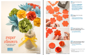 Free tutorial how to make paper flowers stampin up demonstrator stampin up paper flowers tutorial mightylinksfo