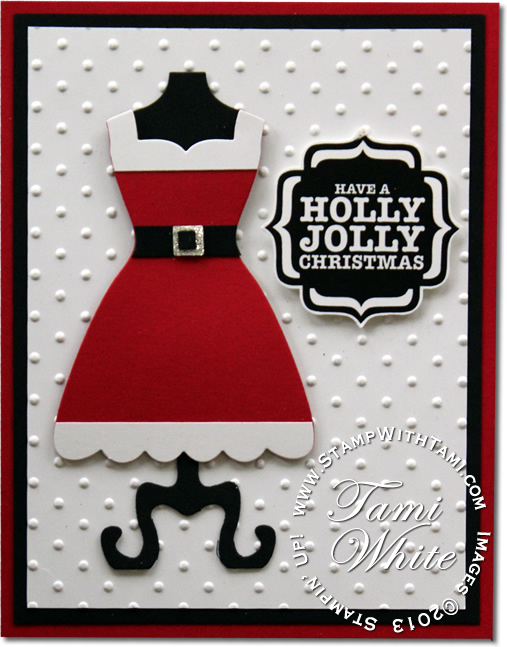 VIDEO Super Cute Mrs Claus Christmas Card Stampin Up