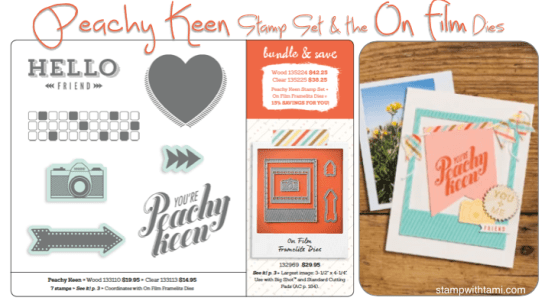 peachy keen stamp set and on film dies