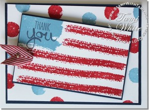 work of art-esther v-stampin up usa flag