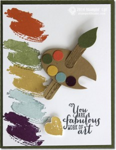 work of art-stampin up - artist palette