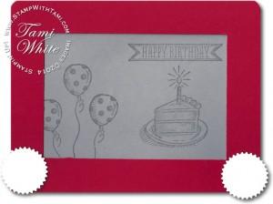 Stampin Up Etch a Sketch card