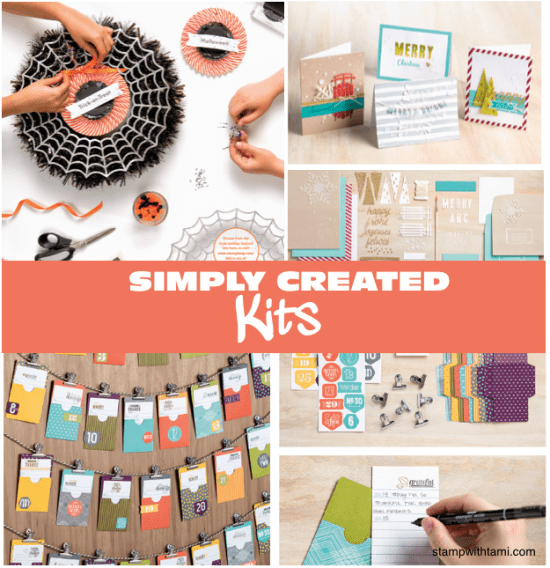 stampin up simply created kits