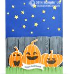 CARD: Fall Fest Pumpkins and Stars