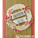 CARD: Four Feathers 'Grateful for You' Fall Wreath