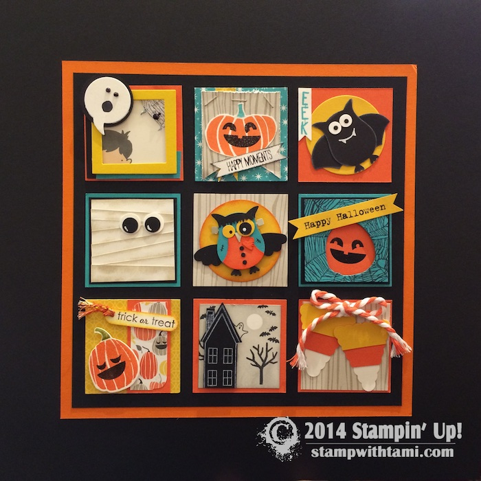PROJECT Awesome Halloween Frame Able Sampler Stampin Up