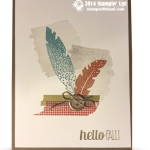 "CARD: Four Feathers ""Hello Fall"""