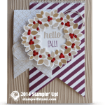 CARD: Hello Fall Wreath, not just for Xmas