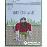 CARD: Wood You Be Mine Lumberjack Valentine