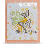 "CARD: Whimsical Butterfly ""Thank You"" Card"