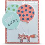 CARD: Foxy Birthday Balloon Fun