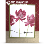 VIDEO: Gorgeous Lotus Blossom Valentines Love Card