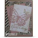 CARD: Vintage Butterfly Basics Birthday Card