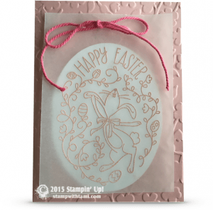stampin up happy easter bunny card