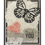 CARD: Thank you Artisan Butterfly Card